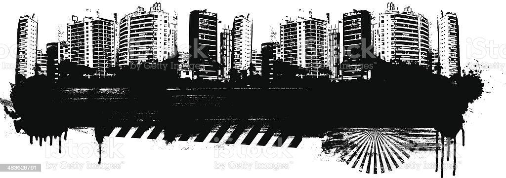 grunge city background