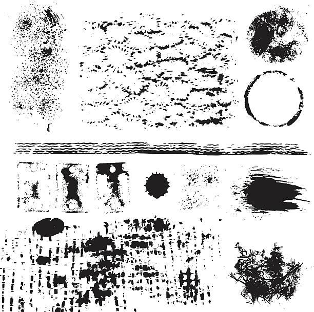 Coleção Grunge elements - ilustração de arte em vetor