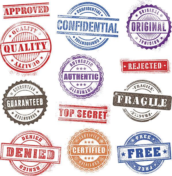 grunge znaczki set2 handlowych - stamp stock illustrations