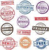 Grunge Commercial Stamps Set2