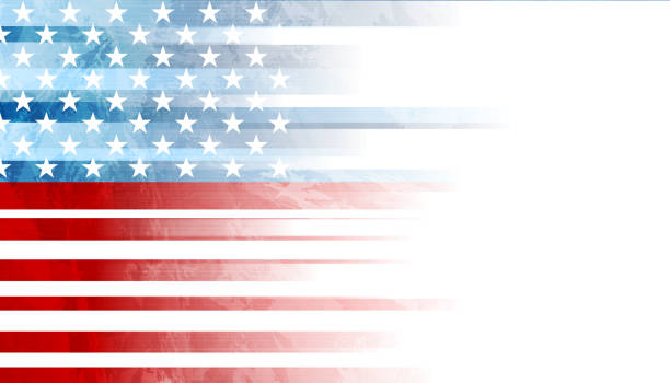grunge concept usa flag abstract background - american flag stock illustrations
