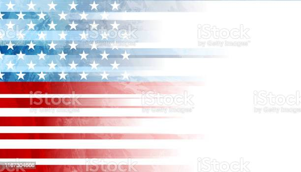 Grunge Concept Usa Flag Abstract Background Stock Illustration - Download Image Now