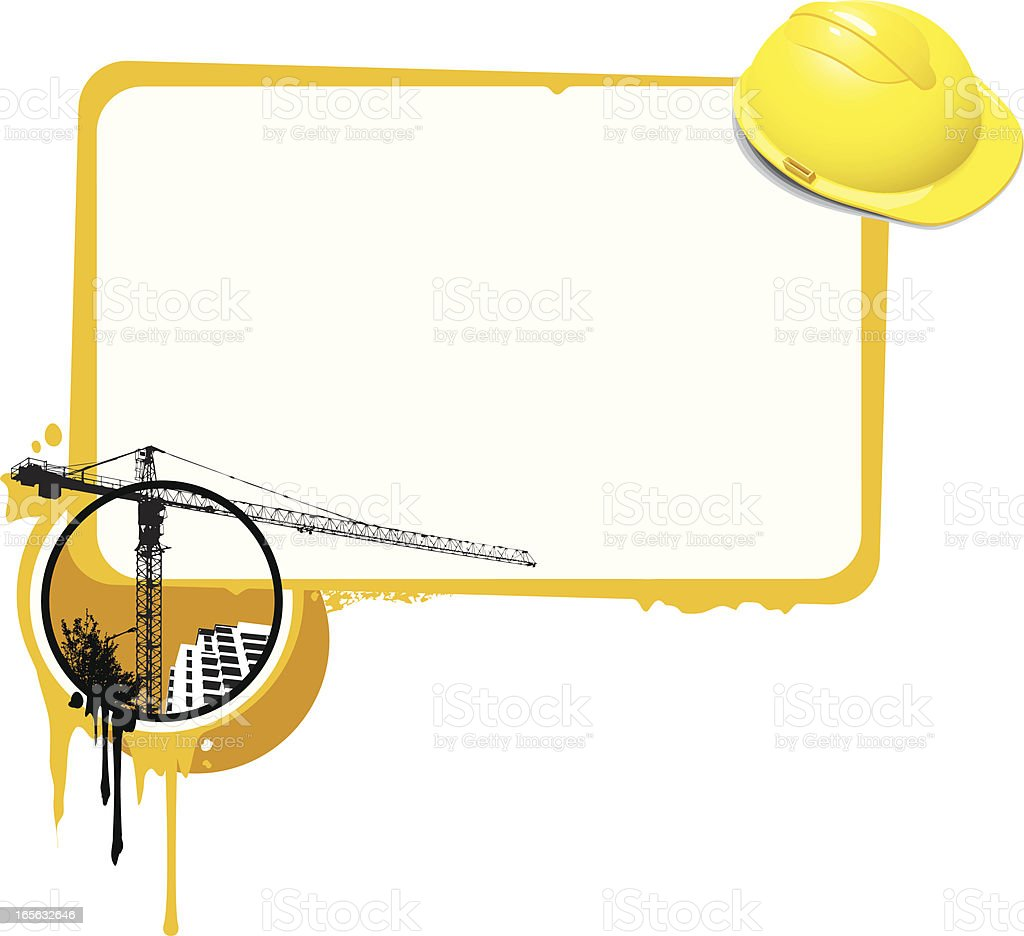 Grunge Construction Banner royalty-free stock vector art