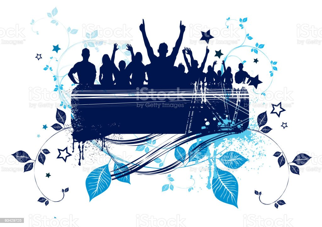 Grunge Crowd Design royalty-free grunge crowd design stock vector art & more images of abstract
