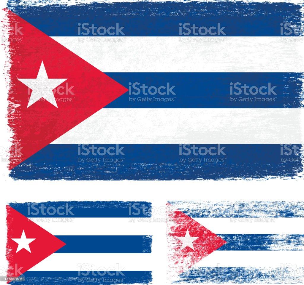 Grunge Cuba flag royalty-free stock vector art