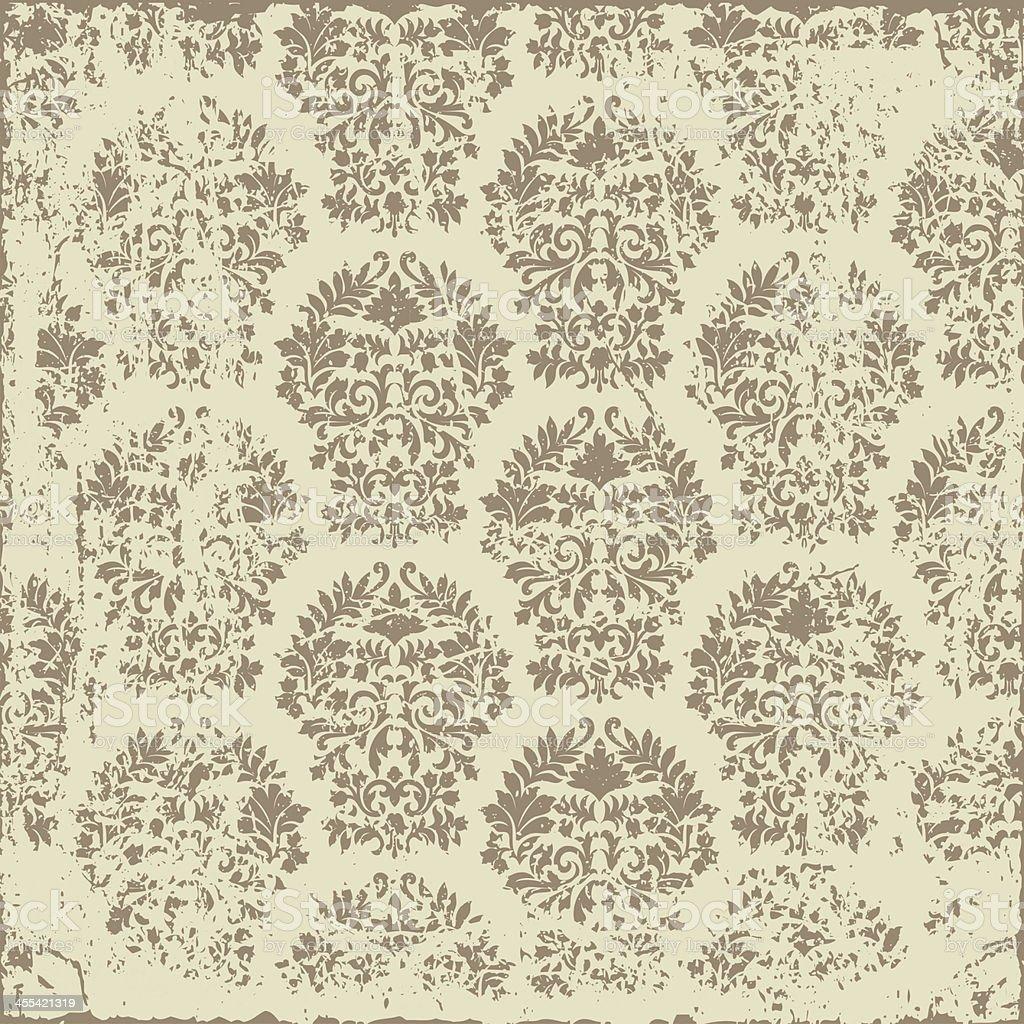 Grunge Damask Pattern royalty-free stock vector art