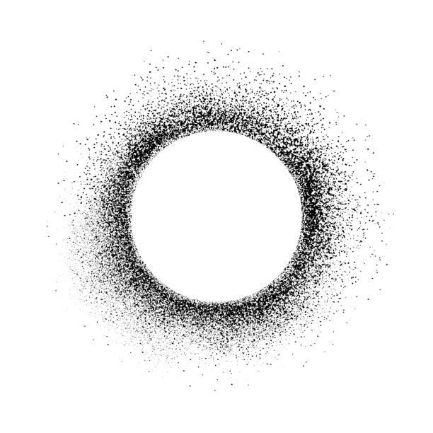 grunge design element, circle frame - rozmazanie ruchu stock illustrations