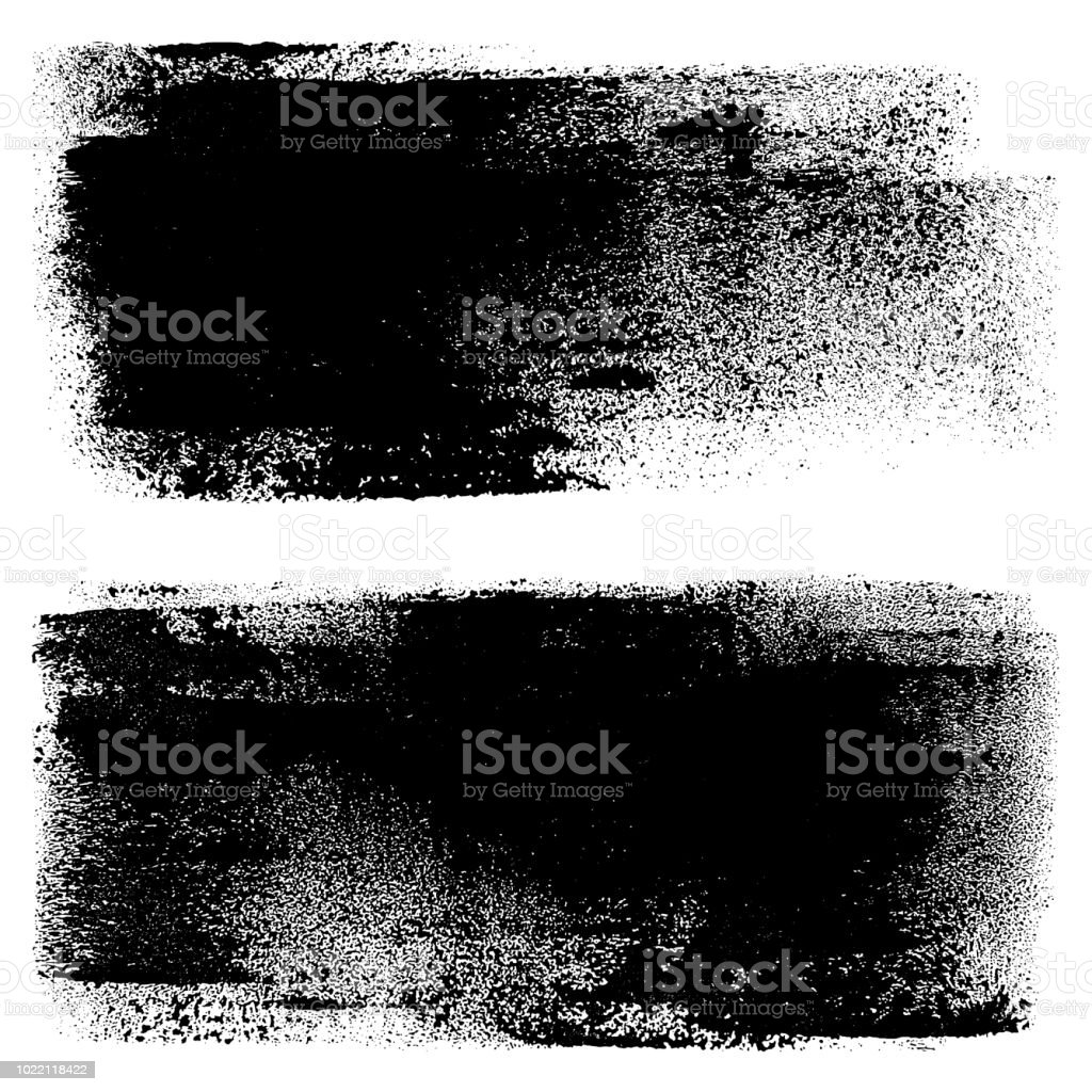 Grunge design elements. Paint roller strokes vector art illustration