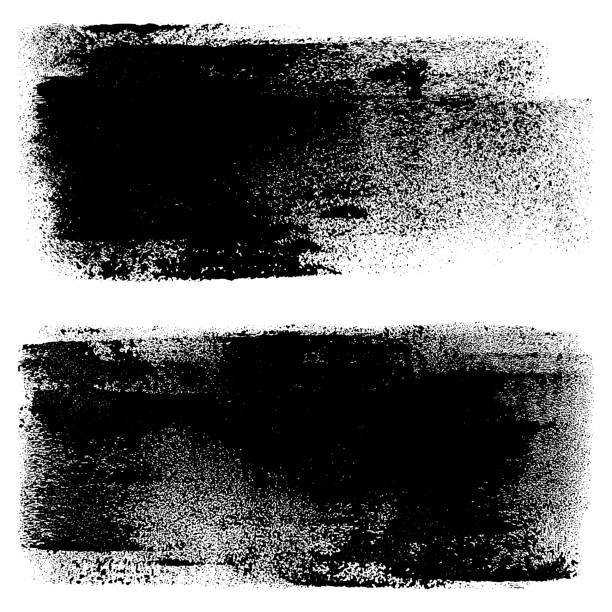 grunge design elements. paint roller strokes - grunge background stock illustrations