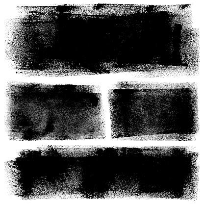 Grunge design elements. Paint roller strokes