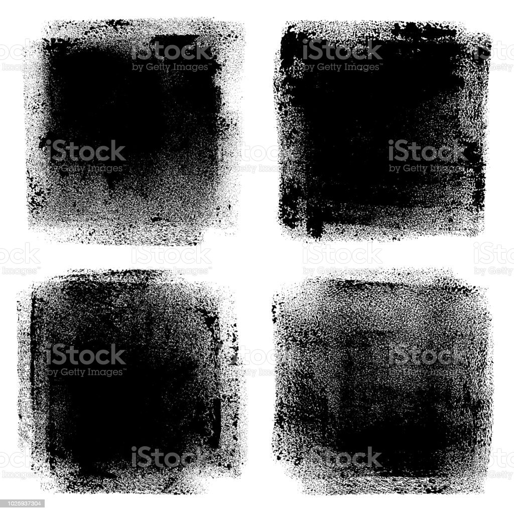 Grunge design elements. Paint roller strokes vector art illustration