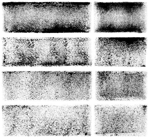 Grunge design elements. Paint roller strokes Set of grunge design elements. Black texture backgrounds. Paint roller strokes. Isolated vector image black on white. paint roller stock illustrations