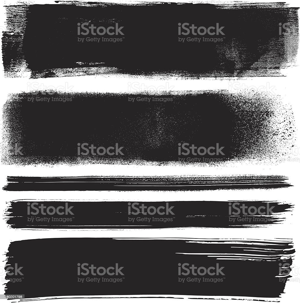 Grunge design elements vector art illustration