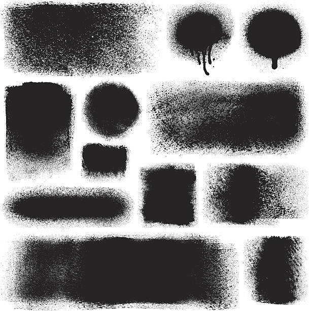 ilustrações, clipart, desenhos animados e ícones de grunge elementos de design - textura de grafite
