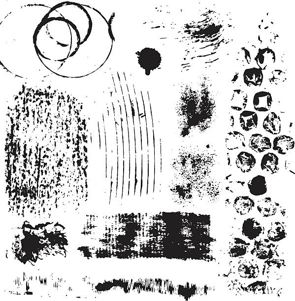 Grunge elementos de design - ilustração de arte em vetor