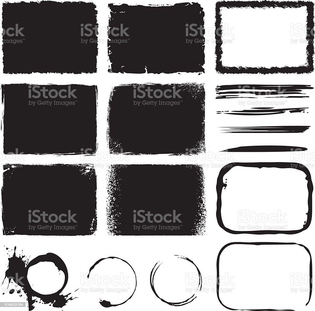 Grunge Design Elements royalty-free grunge design elements stock illustration - download image now