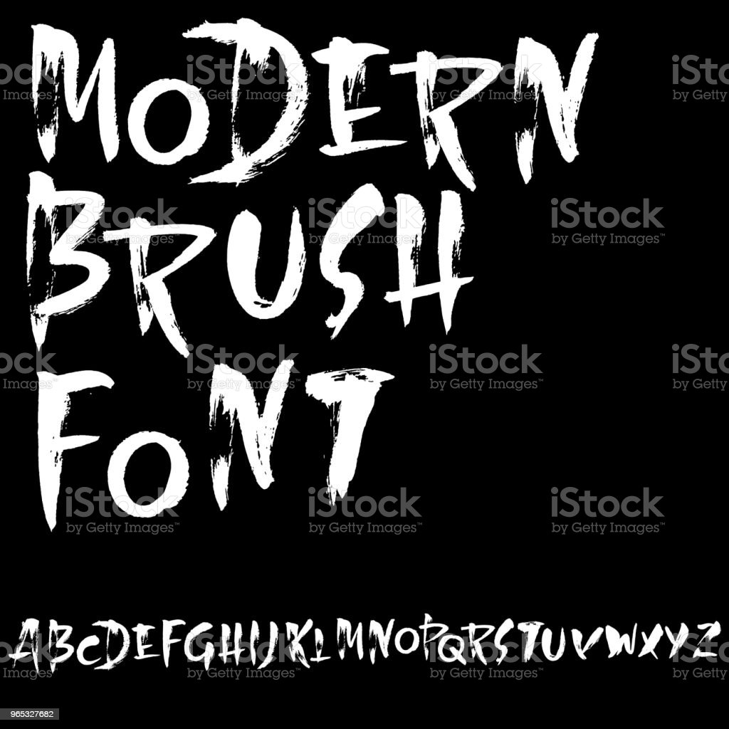 Grunge distress font. Modern dry brush ink letters. Handwritten alphabet. Vector illustration. grunge distress font modern dry brush ink letters handwritten alphabet vector illustration - stockowe grafiki wektorowe i więcej obrazów abstrakcja royalty-free