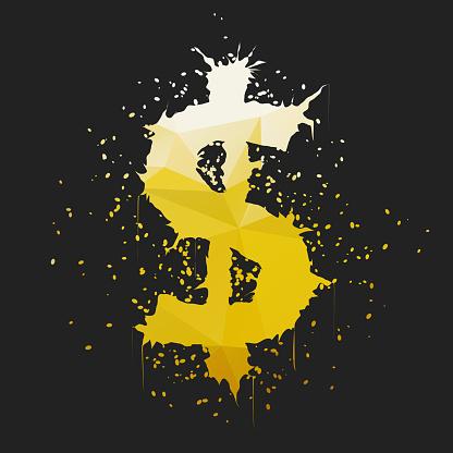 Grunge Dollar Sign