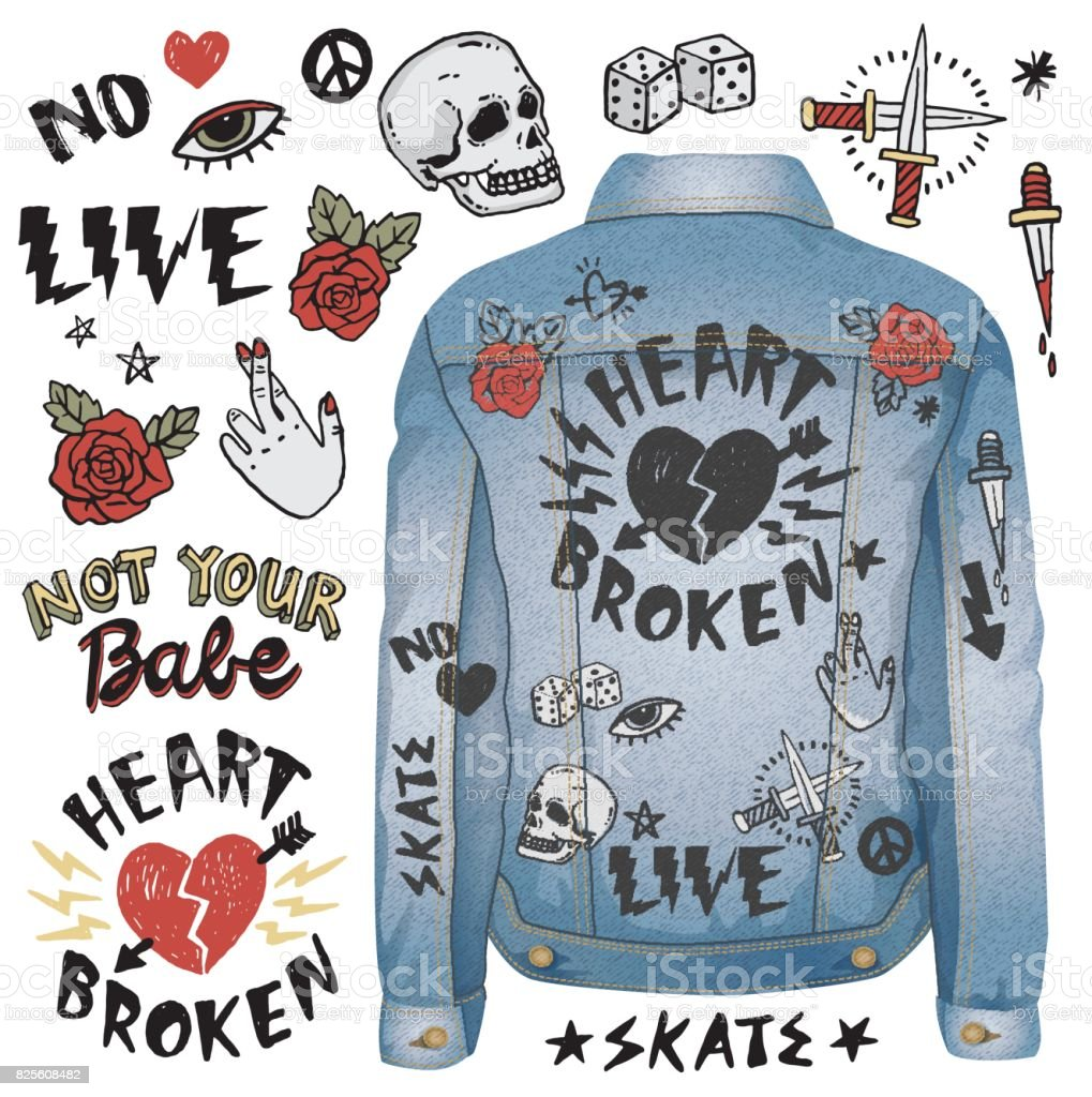 Grunge-Doodles – Vektorgrafik