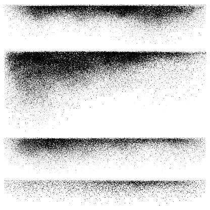 Grunge edges, vector design elements