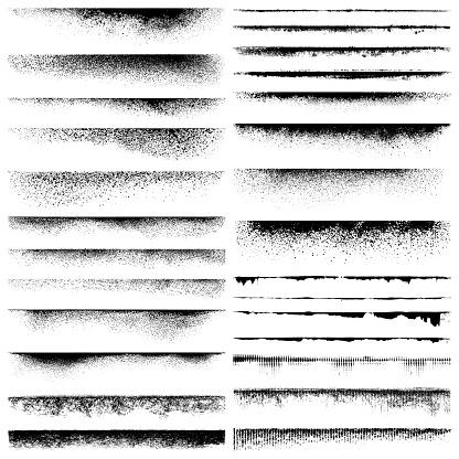 Set of grunge edges. Vector design elements.