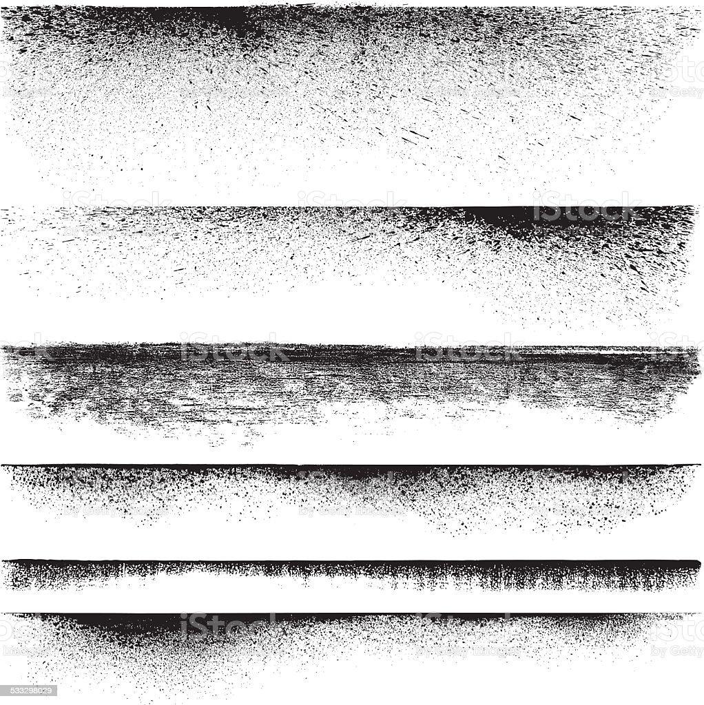 Grunge edges vector art illustration