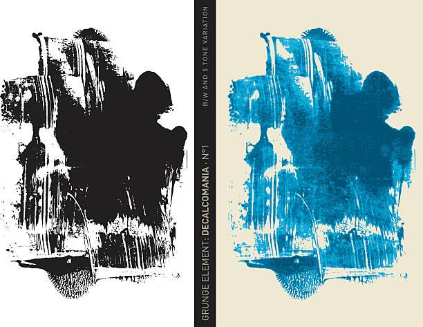 grunge-element : décalcomanie n ° 1 (blaue - surreal stock-grafiken, -clipart, -cartoons und -symbole