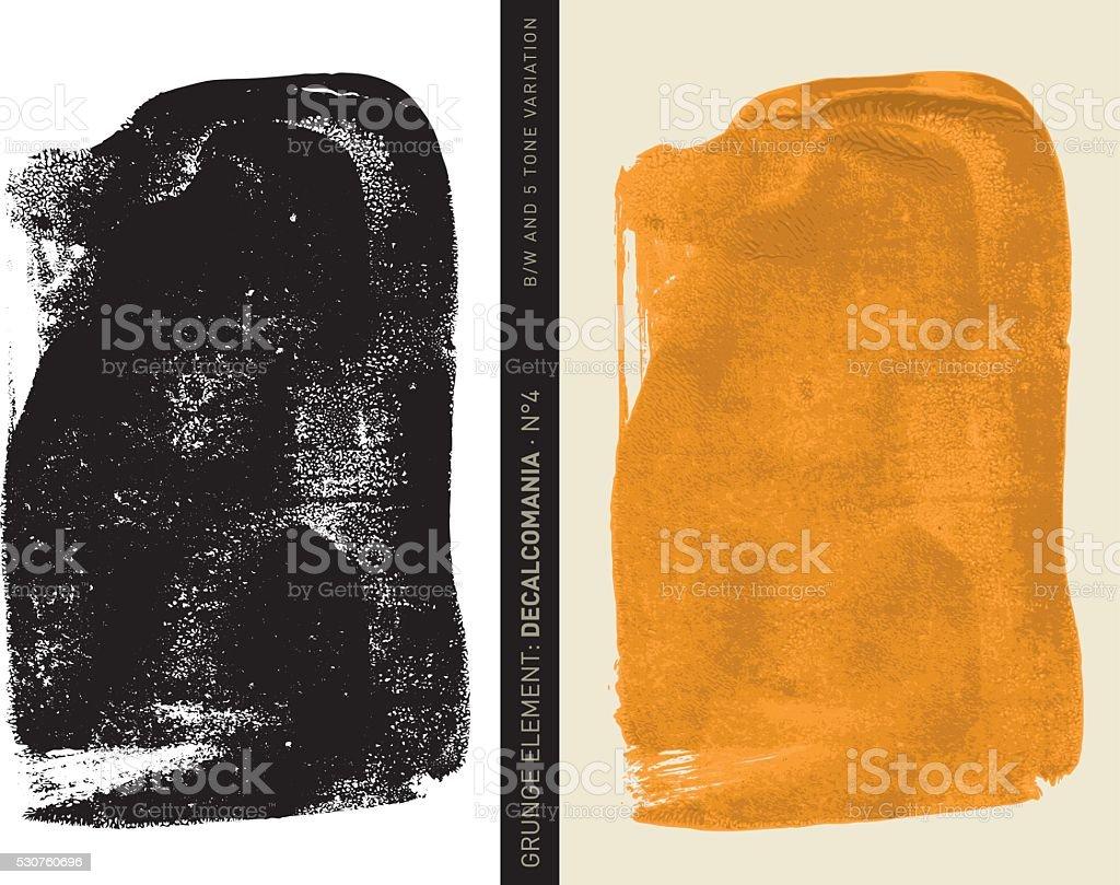 Grunge element: Decalcomania n°4 (Orange) vector art illustration