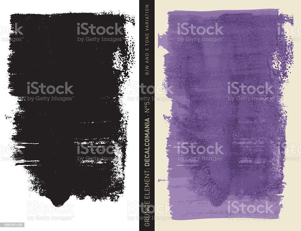 Grunge element: Decalcomania n°5 (Purple) vector art illustration