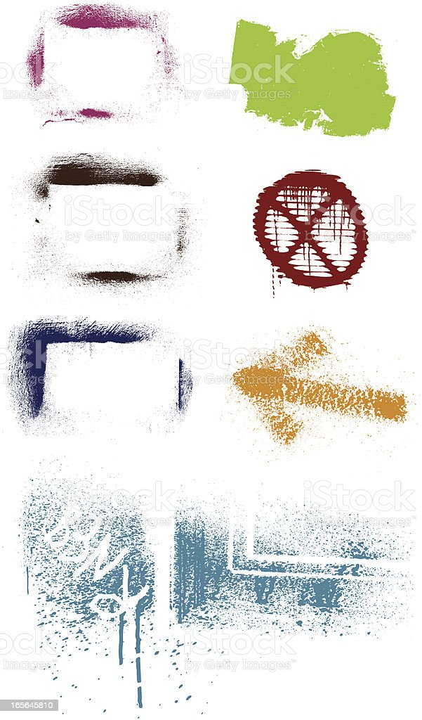grunge elements set royalty-free stock vector art