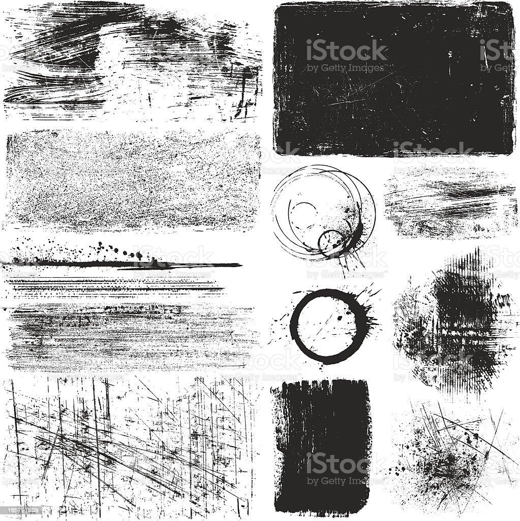 Grunge Elements - ilustración de arte vectorial
