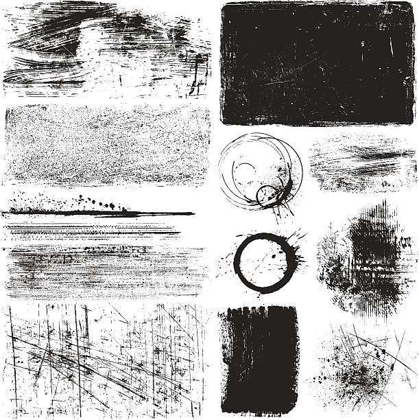 Grunge Elements Detailed grunge elements.Hi res jpeg included.More works like this linked below. damaged stock illustrations