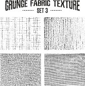 Grunge fabric textures set 3.