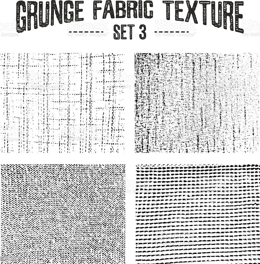 Grunge fabric textures set 3. vector art illustration