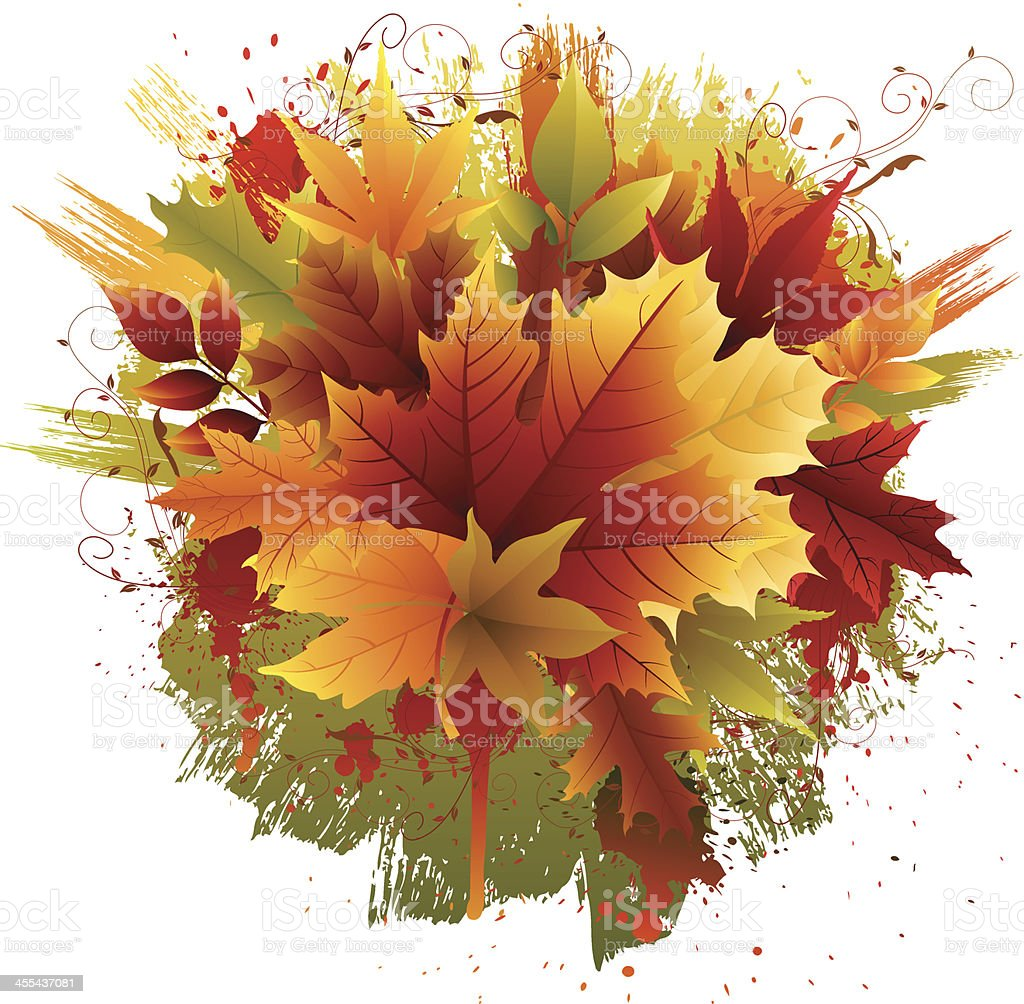 Grunge Fall Leaves royalty-free grunge fall leaves stock vector art & more images of autumn