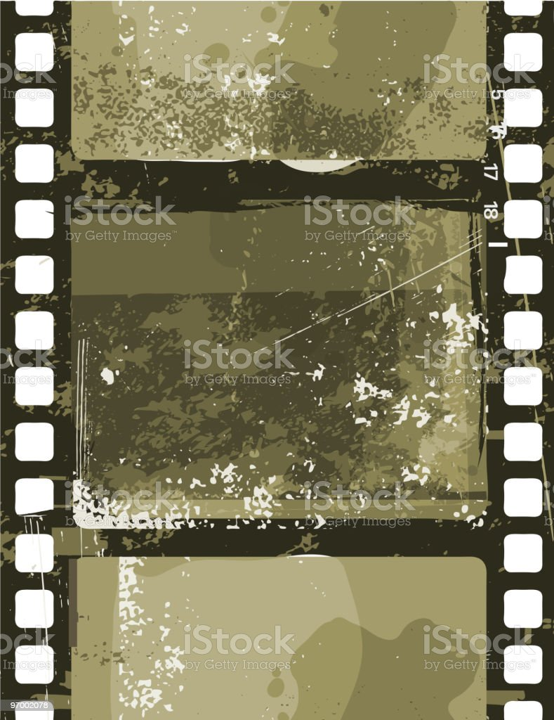 Grunge Film royalty-free stock vector art