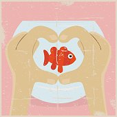 Grunge Fish Love