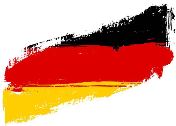 Grunge flag of Germany vector art illustration