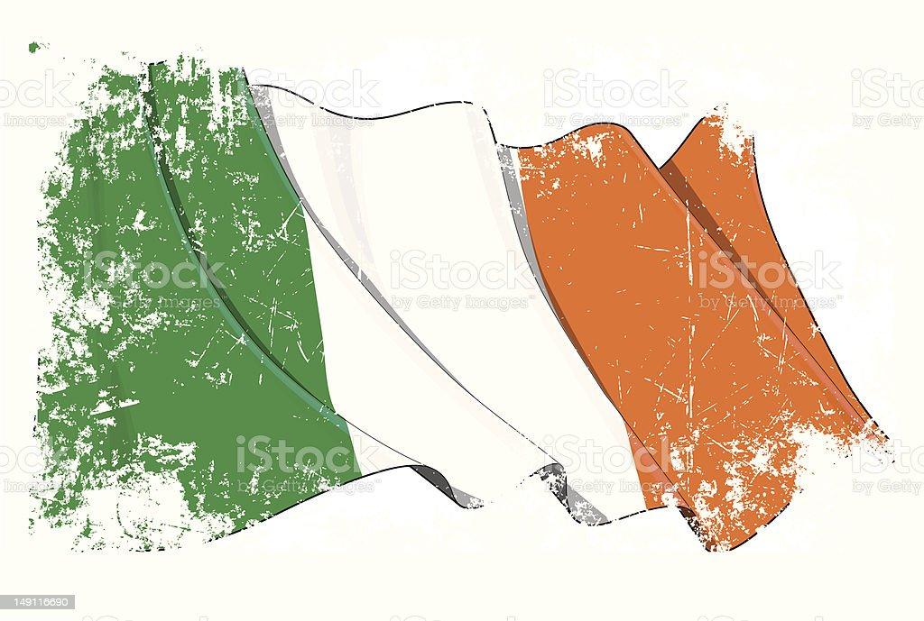 Grunge de bandera de Irlanda - ilustración de arte vectorial