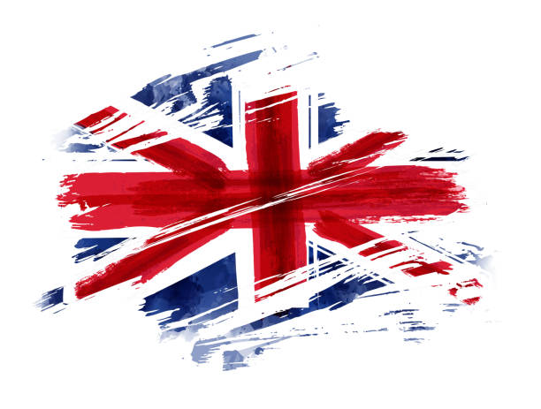 영국의 그런 지 국기 - 영국 국기 stock illustrations