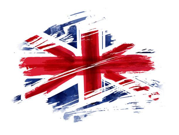 grunge flag of the united kingdom - культура великобритании stock illustrations