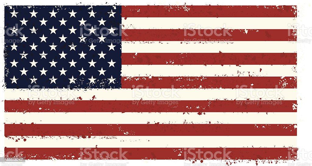 USA Grunge flag vector art illustration