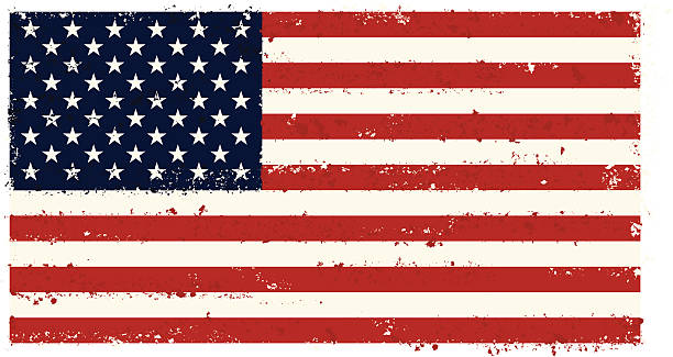 USA Grunge flag A USA flag with a distressed texture. On layers for easy editing. distressed american flag stock illustrations