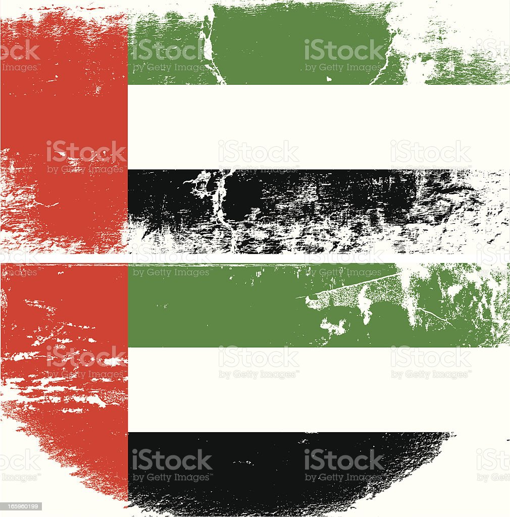UAE Grunge flag vector art illustration