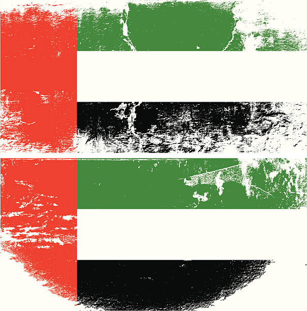 UAE Grunge flag vector art illustration