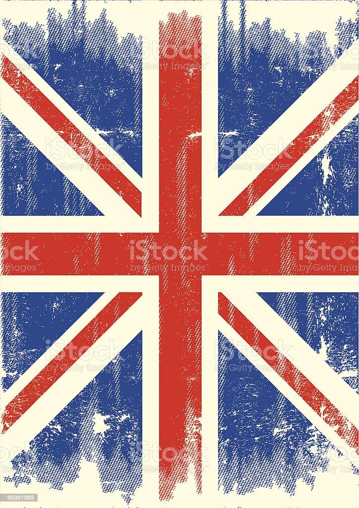 UK grunge flag vector art illustration