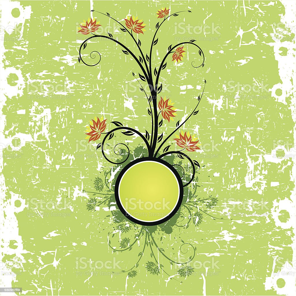 Grunge Floral Background royalty-free grunge floral background stock vector art & more images of abstract