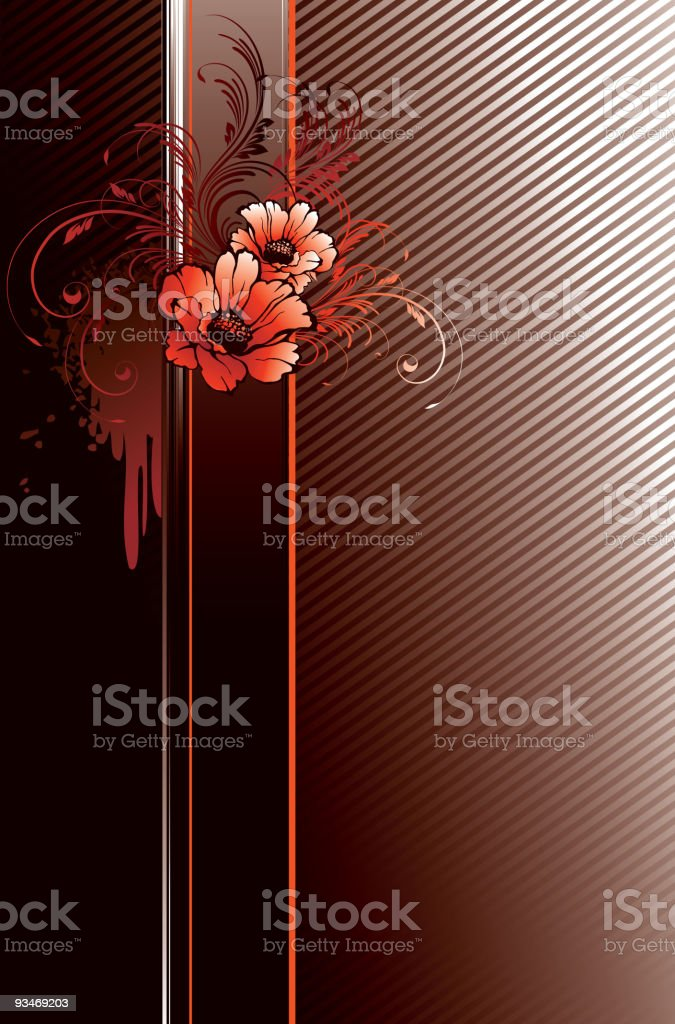Grunge floral banner royalty-free grunge floral banner stock vector art & more images of abstract