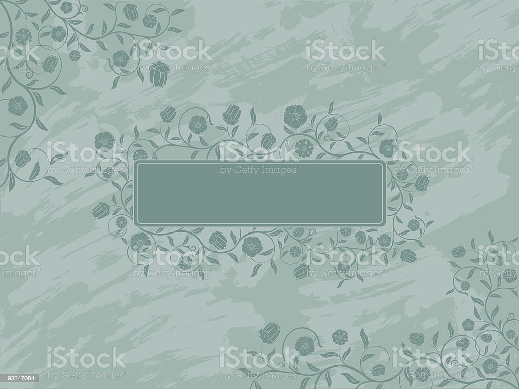 Grunge floral banner. Vector. royalty-free grunge floral banner vector stock vector art & more images of abstract