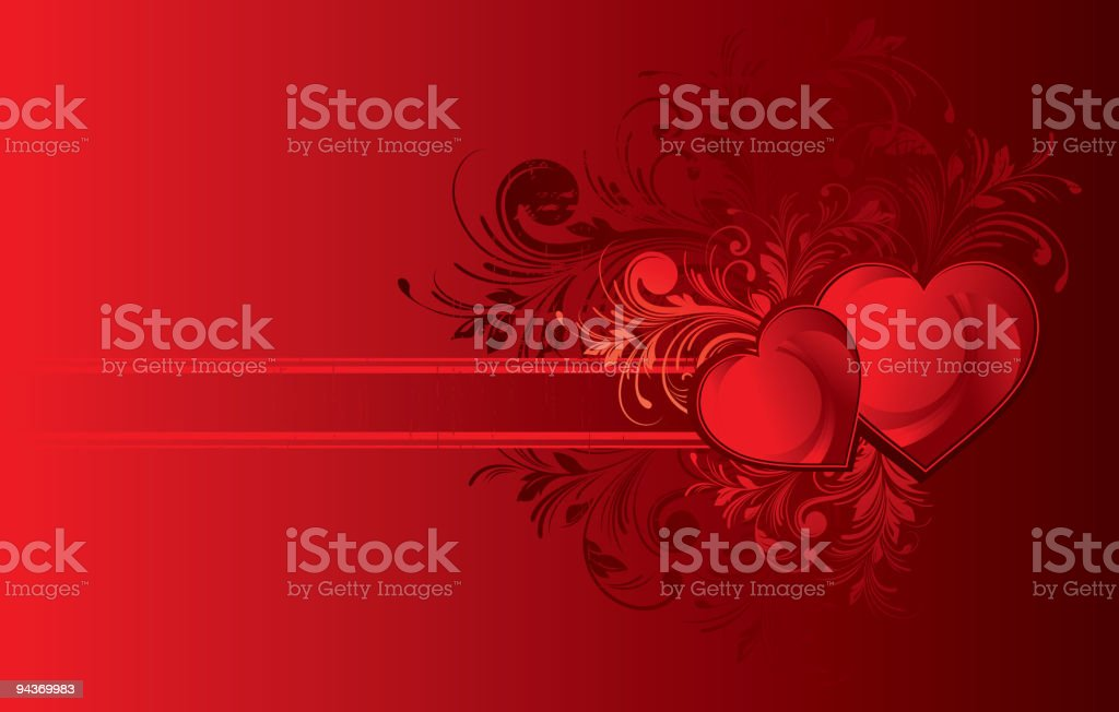 Grunge floral decorative pattern and valentine heart royalty-free grunge floral decorative pattern and valentine heart stock vector art & more images of abstract